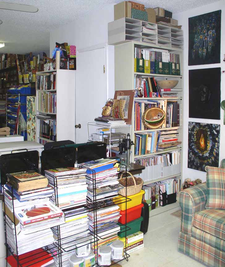 11bookcaseonRestroomwall