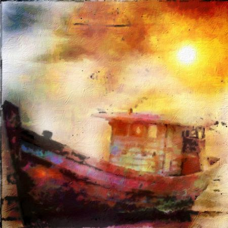 Oilpaintingboat